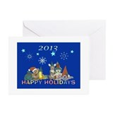 Happy Holidays 11 Greeting Cards (Pk of 10)