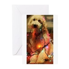 Cool Christmas light Greeting Cards (Pk of 10)