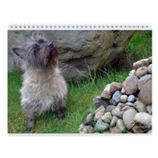 Cairn Terrier Birthday Wall Calendar