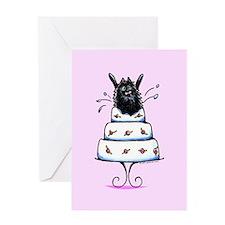 Pomeranian Cake Trick Greeting Card