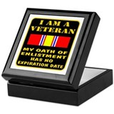 I Am A Veteran Keepsake Box