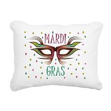 mardi gras PARTY MASK Rectangular Canvas Pillow