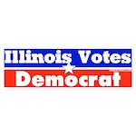 Illinois Votes Democrat Bumper Sticker