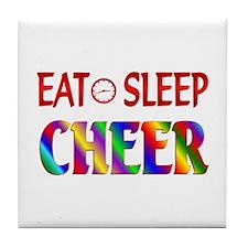 Eat Sleep Cheer Tile Coaster