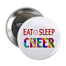 "Eat Sleep Cheer 2.25"" Button (100 pack)"