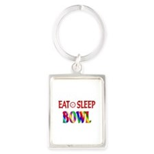 Eat Sleep Bowl Portrait Keychain