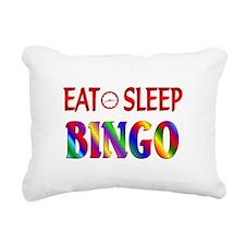 Eat Sleep Bingo Rectangular Canvas Pillow