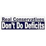 Real Conservatives Bumper Sticker