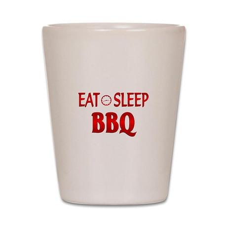 Eat Sleep BBQ Shot Glass