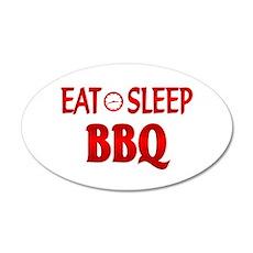 Eat Sleep BBQ 20x12 Oval Wall Decal