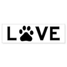 Love Dog Bumper Stickers
