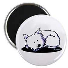 "Nap Time Westie 2.25"" Magnet (100 pack)"