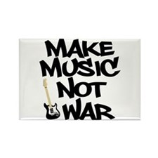 Make Music, Not War Rectangle Magnet (10 pack)