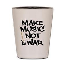 Make Music, Not War Shot Glass