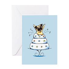 Pug Cake Trick Greeting Card