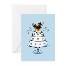 Pug Cake Trick Greeting Cards (Pk of 10)