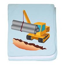 Construction Equipment baby blanket