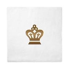 Gold Crown Queen Duvet