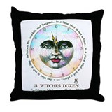 Witches Dozen Throw Pillow
