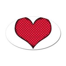 Polka Dot Heart Wall Decal