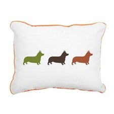 Pembroke Welsh Corgis Rectangular Canvas Pillow