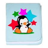 I Love Penguin baby blanket