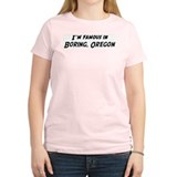 Famous in Boring Women's Pink T-Shirt