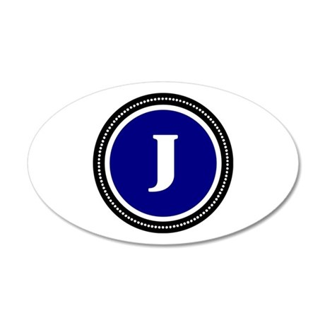Blue 35x21 Oval Wall Decal
