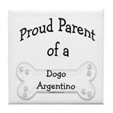 Proud Parent Dogo Tile Coaster