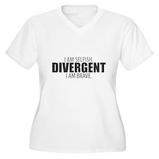 Divergent: I Am Selfish. I Am Brave. Plus Size T-S
