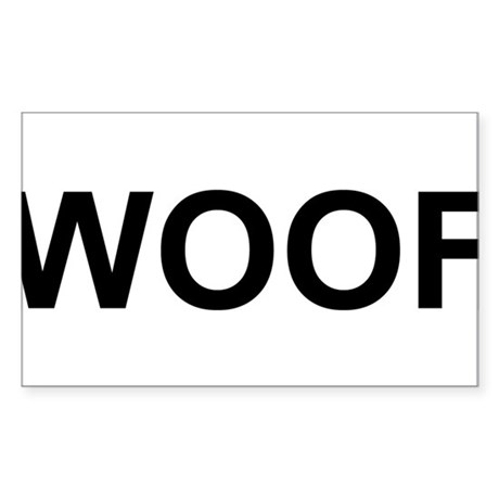 WOOF Sticker