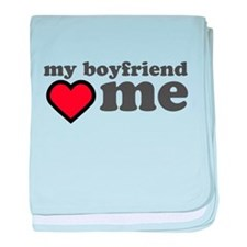 My Boyfriend Loves Me baby blanket