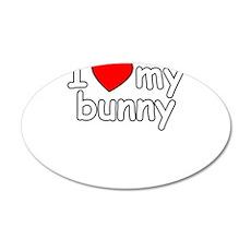 I Love My Bunny Wall Decal