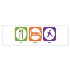 Eat Sleep Run Bumper Car Sticker