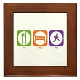 Eat Sleep Run Framed Tile