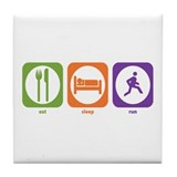 Eat Sleep Run Tile Coaster