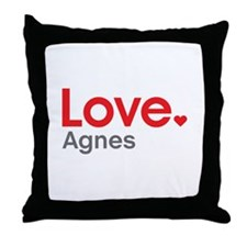 Love Agnes Throw Pillow