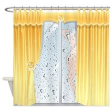 Funny Girl in Shower Shower Curtain