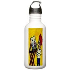 Painting Comic Trouble Water Bottle