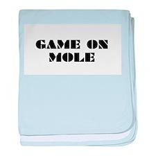 Game on Mole baby blanket
