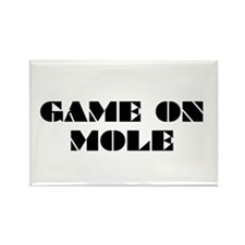 Game on Mole Rectangle Magnet
