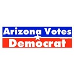 Arizona Votes Democrat Bumper Sticker