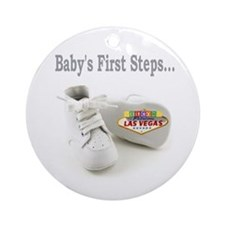 Baby's First Steps.. Ornament (Round)