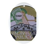 Vacaville PD SWAT Oval Ornament