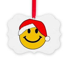 Christmas Santa Smiley Ornament