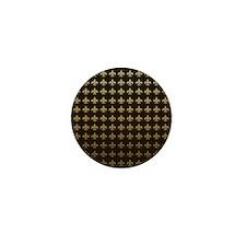 Chocolate Fleur de lis Mini Button