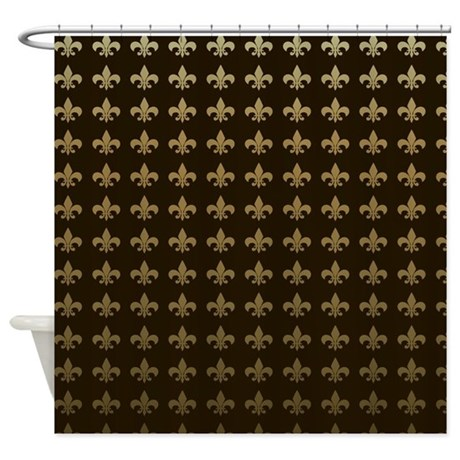 Chocolate fleur de lis shower curtain by magicgardendesigns - Fleur de lis shower curtains ...