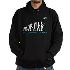 evolution of man with model plane Hoodie