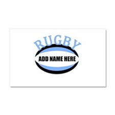 Rugby Add Name Light Blue Car Magnet 20 x 12