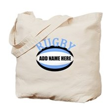 Rugby Add Name Light Blue Tote Bag